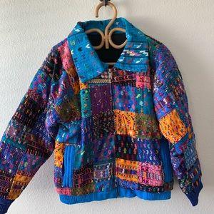 Jackets & Blazers - Vintage rainbow embroidered Guatemalan jacket